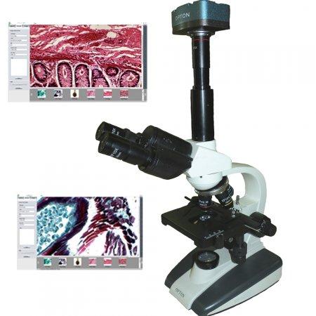 MICROSCÓPIO BIOLÓGICO TRINOCULAR DIGITAL 1600X
